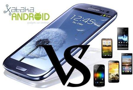 El Samsung Galaxy SIII contra los mejores teléfonos Android