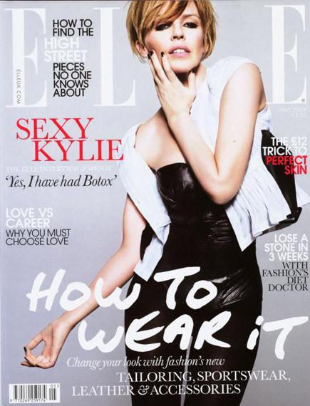 Kylie Minogue reconoce haber usado botox