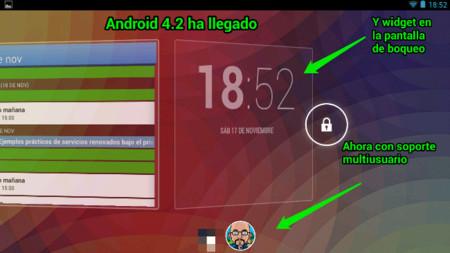 La llegada de Android 4.2 y sus nuevas funcionalidades. La imagen de la semana