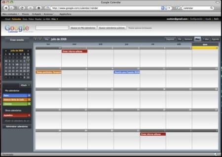 Modifica el aspecto de Google Calendar con Stylish