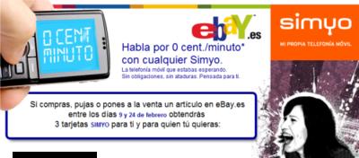 Llamadas gratis entre números Simyo si usas eBay