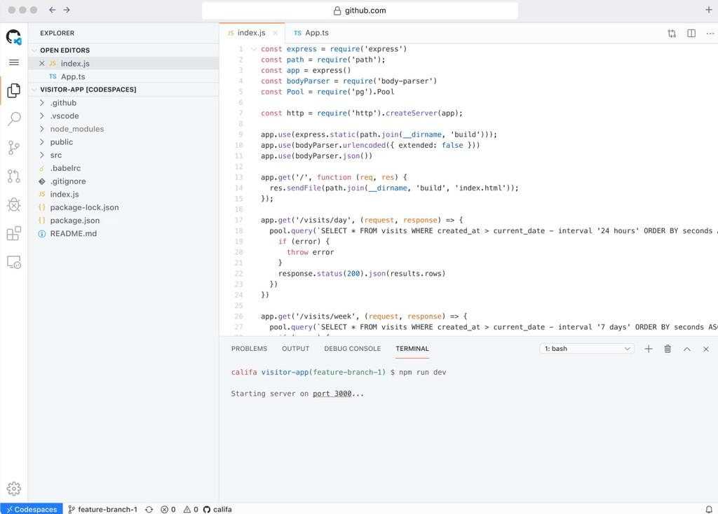 GitHub presenta Codespaces, su entorno de desarrollo online