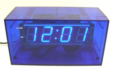 Skeleton, reloj despertador digital y transparente