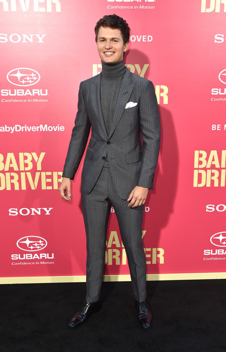 Ansel Elgort Se Adelanto Al Invierno Con Su Look En La Premiere De Baby Driver 3