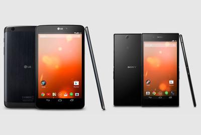 Sony Xperia Z Ultra y LG G Pad 8.3 ahora en versiones Google Edition