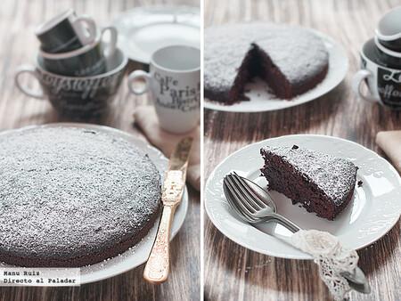 Pastel de chocolate estilo francés, receta