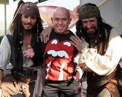 Keith Richards en el set de 'Piratas del Caribe 3'
