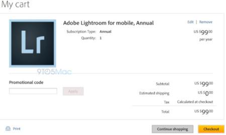 Lightroom para iOS se acerca, con posible sincronización de archivos y un pago por suscripción