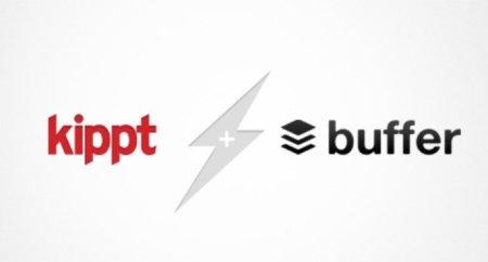 Buffer permite almacenar nuestros tweets y actualizaciones de Facebook mediante Kippt