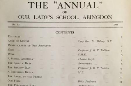 Encuentran dos poemas de J.R.R. Tolkien de 1936 en la revista de una escuela