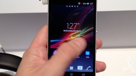 Xperia Z en vídeo captura