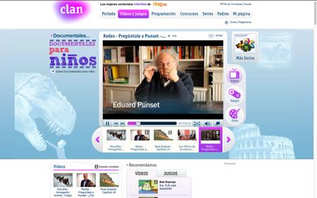 En el sitio en Internet de Clan se pueden ver los mejores documentales para niños