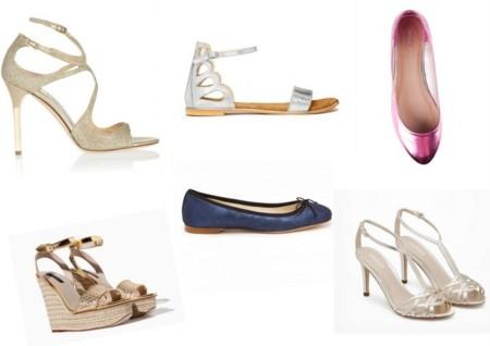 Sandalias y zapatos metalizados pv 2014