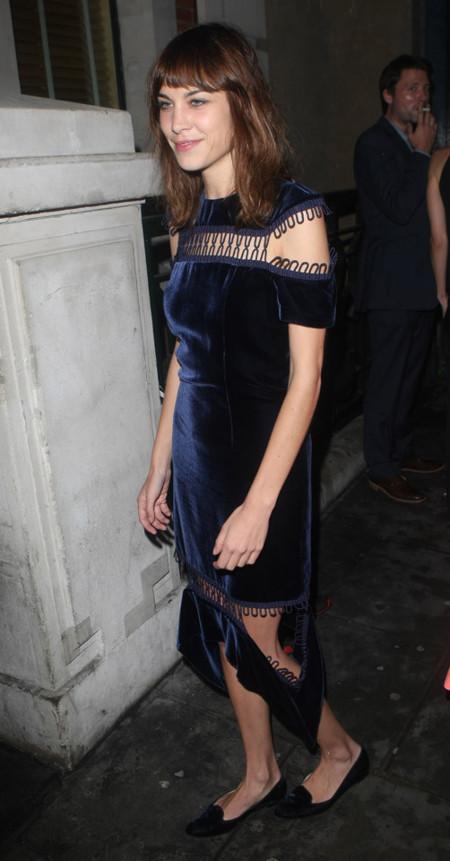 vestido Alexa Chung Londres Semana Moda