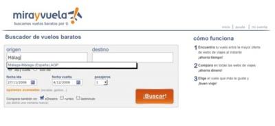 Mirayvuela.com, nuevo buscador de vuelos baratos