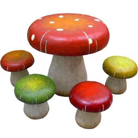 Conjunto de setas de colores, como juego de mesa y asientos infantil