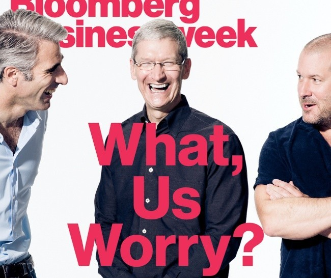 tim cook craig federighi jonathan jony ive apple bloomberg businessweek portada