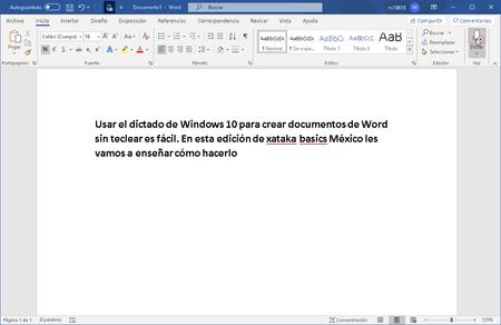 Cómo usar el dictado de voz de Windows 10 en México para crear documentos de Word sin teclear con las manos