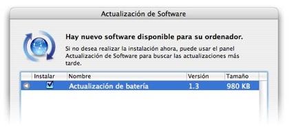 Actualización de software sobre la gestión de energía de las baterías en los MacBooks Pro