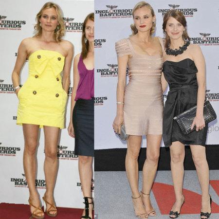 Diane Kruger en la premiere de Inglourious Basterds en Berlín