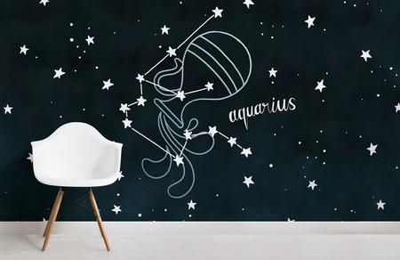 Papel Pintado Constelaciones Del Zodiaco Acuario Chair Weblandscape