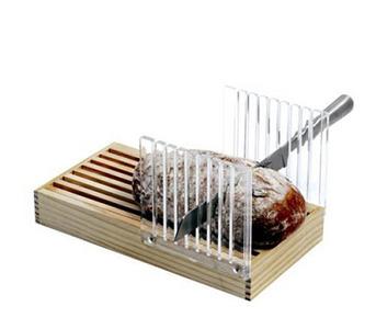 Una tabla para cortar el pan al milímetro