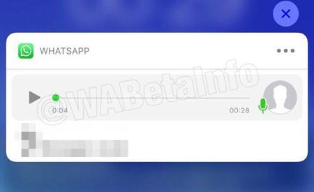 Mensaje de voz de WhatsApp en las notificaciones
