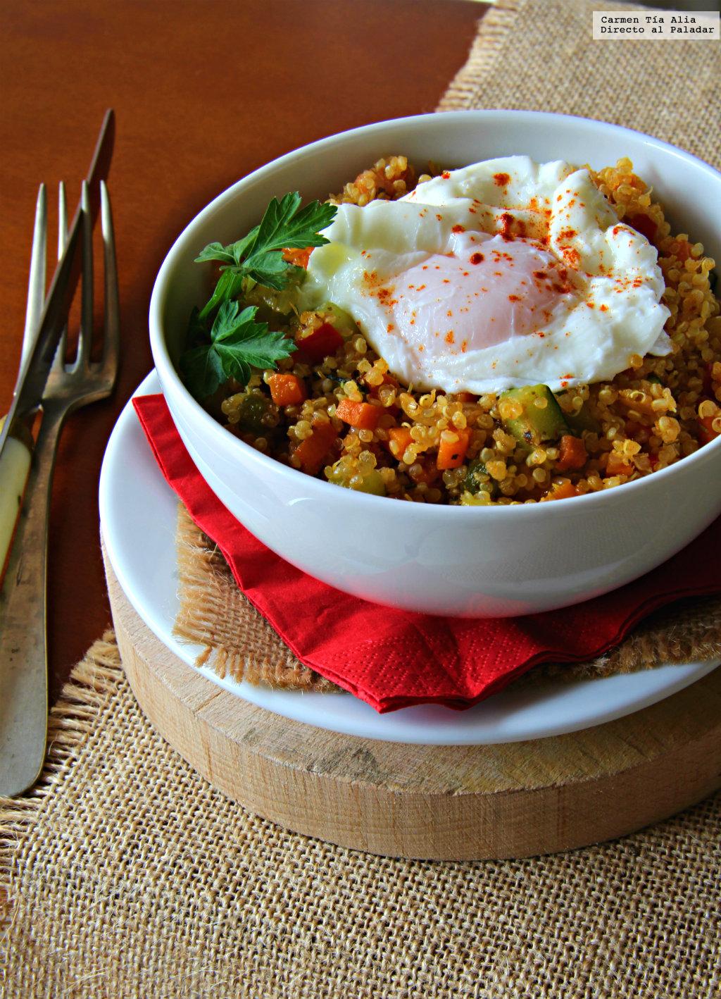 Bowl de quinoa verduritas y huevo receta de cocina f cil for Cocina quinoa con verduras