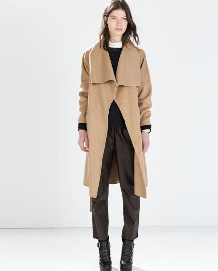 Clon abrigo gris Hermès Otoño-Invierno 2014/2015 Zara