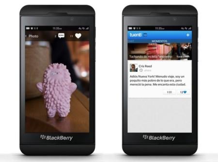 Tuenti para Blackberry Z10 y Q10
