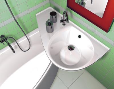lavabo avocado sobre bañera