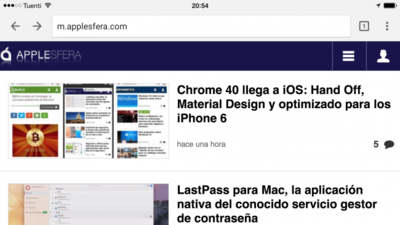 Tabla comparativa: Google Chrome VS Safari en iOS