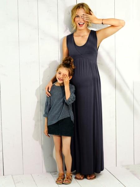 Maxi vestidos premamá para disfrutar del verano