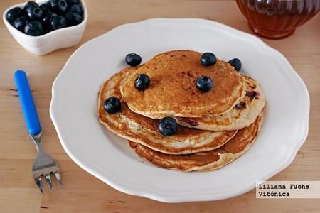 Desayunos Saludables Cole Tortitas Avena Arandanos