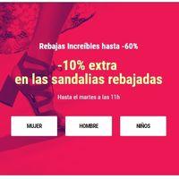 10% de descuento extra en sandalias ya rebajadas en Sarenza durante las próximas 24 horas
