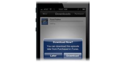 Tarde y con limitaciones: así es la nueva opción de iTunes para descargar contenidos en otro momento