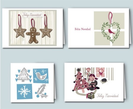 Tarjetas de Navidad para imprimir de Kireei