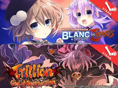 MegaTagmension Blanc + Neptune VS Zombies y Trillion: God of Destruction  también llegarán a Steam