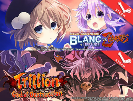 MegaTagmension Blanc + Neptune VS Zombies y Trillion: God of Destruction  también llegarán a Steam