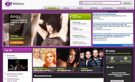 Yahoo Música se renueva e incorpora funciones 2.0