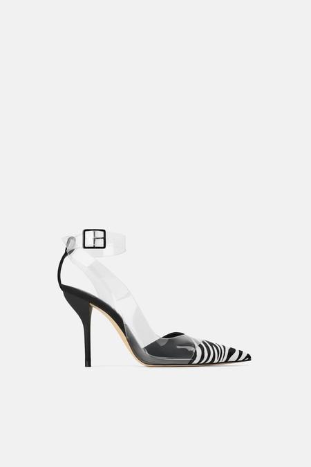 zapatos tacon vinilo