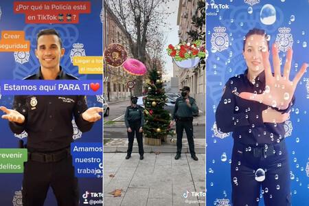 Filtros, retos y agentes bailongos: así son las exitosas cuentas de Tiktok de Policía y Guardia Civil