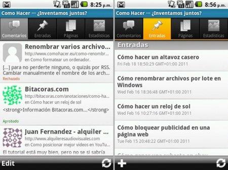 Secciones de WordPress