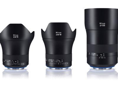 Zeiss presenta tres nuevos objetivos de la serie Milvus para cámaras DSLR y de vídeo de alta resolución