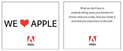 Los fundadores de Adobe responden a Apple mediante publicidad y una nueva carta abierta