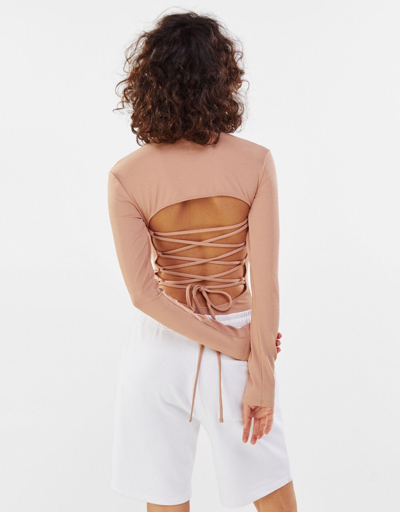 Body con espalda acordonada