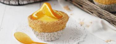 Cupcakes de almendra con glaseado de naranja, una receta tan fácil que incluso puede hacerla un niño