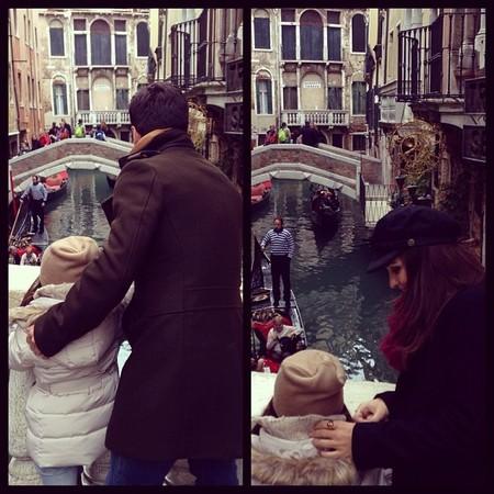 Hasta Venecia que se fueron Bustamante y Paula Echevarría de puente