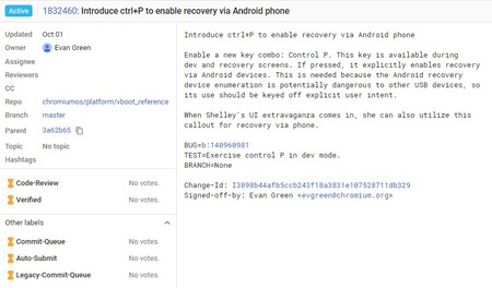 Chromebook Recovery Android Phone Chromium Gerrit