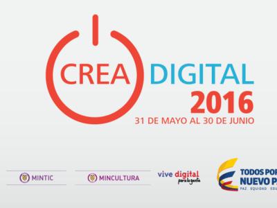 Participa en Crea Digital 2016, la convocatoria de MinTIC que entregará $1.800 millones